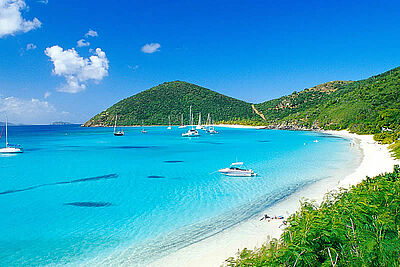 Bucht in den British Virgin Islands