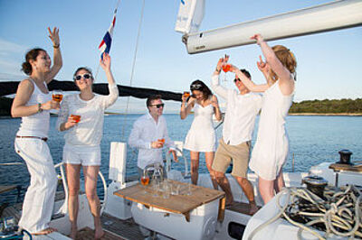 yacht celebration, sailingyacht