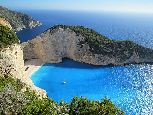 Navajo-Bay on Zakynthos, Greece
