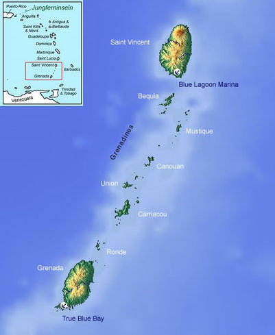 Geography of Grenada and St.Vincent