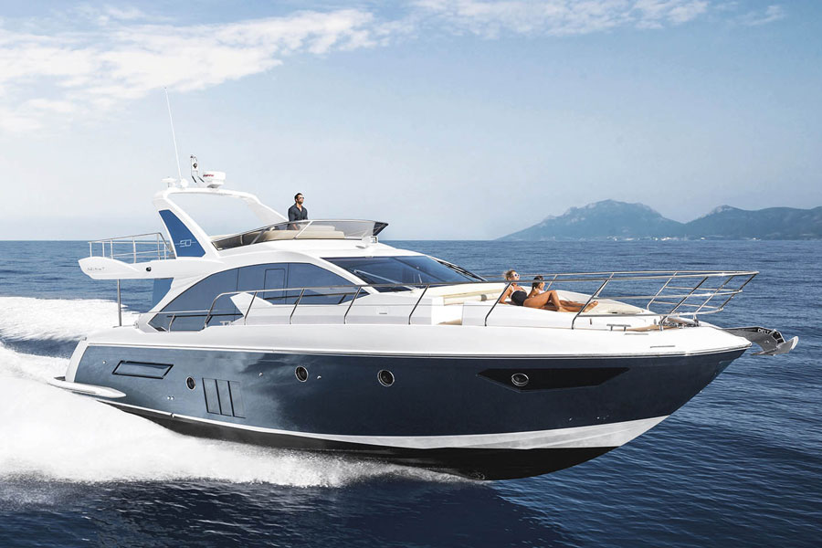 Luxurious motor yacht