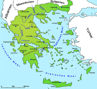 Greece, 1000 Islands, geography